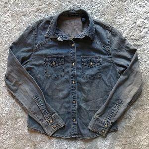 Express jeans women's denim button up top